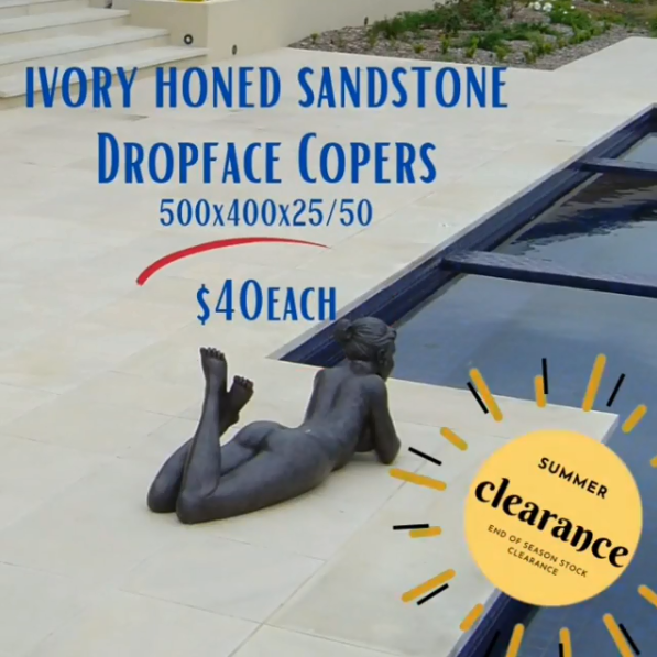 Sandstone dropface copers clearance special