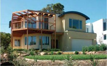 House using lightweight concrete