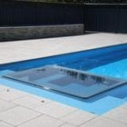 Grey Granite Pool with dropnose coping