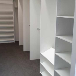 White WIR with long hang, double hang and sloping shoe racks