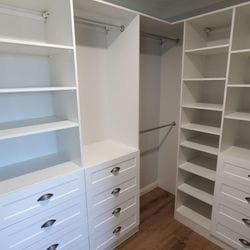 White WIR with shaker profile drawer fronts
