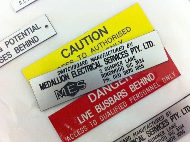 Medallion Engraving Services Standard & Installation Labels