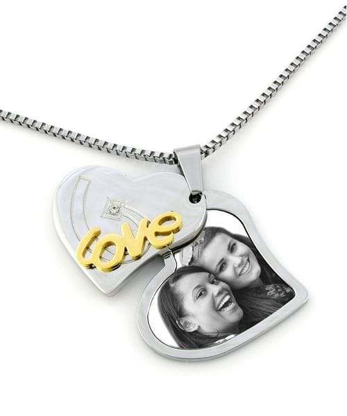 "Main Image Contemporary Heart ""Love"" Pendant"