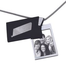 "Contemporary Rectangle ""Black Cover"" Pendant"
