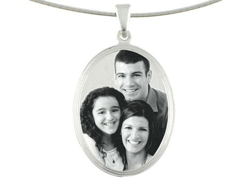 Related Image Classic Oval Large Pendant