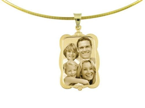 Related Image Designer Rectangle Gold Pendant
