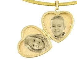 Locket Heart 9ct Yellow Gold