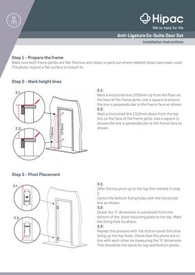 Anti-Ligature En-Suite Doorset Installation Instructions