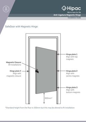 Anti-Ligature Magnetic Hinge Install