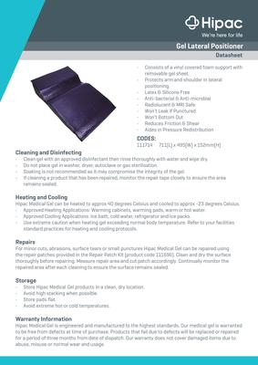 Gel Lateral Positioner Datasheet