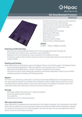 Gel Ulnar/Brachial Protector Datasheet