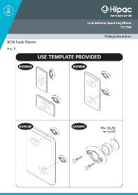 Fitting Instructions, Anti-Ligature toilet Roll Holder