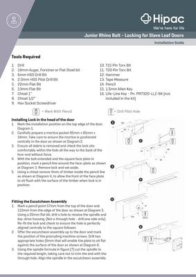 Rhino Junior Bolt Installation Guide