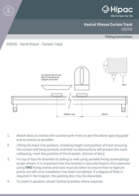 Kestrel Vitesse Curtain Tracking