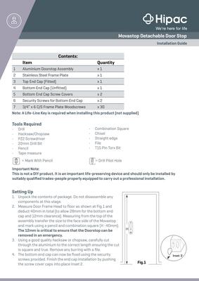 Movastop Detachable Door Stop Installation Guide