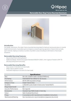 Removable Door Stop Datasheet