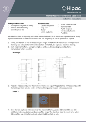 Removable Doorstop Installation Guide