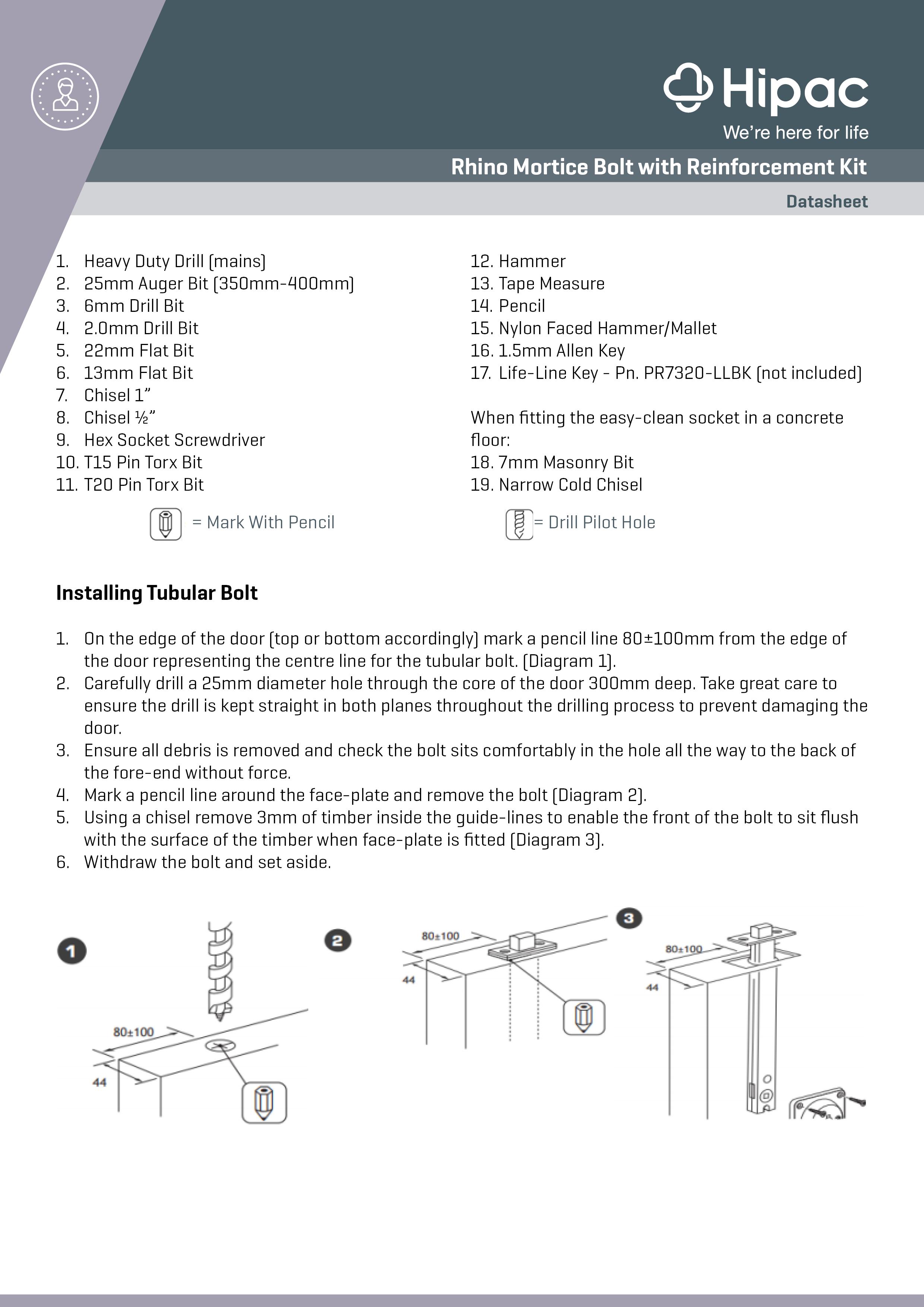 Rhino Mortice Bolt Installation Guide