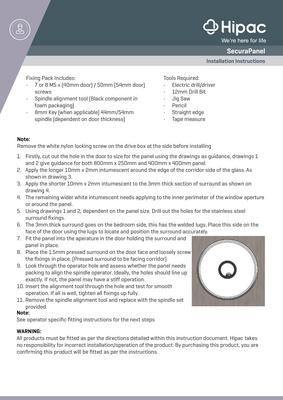SecuraPanel Installation Guide