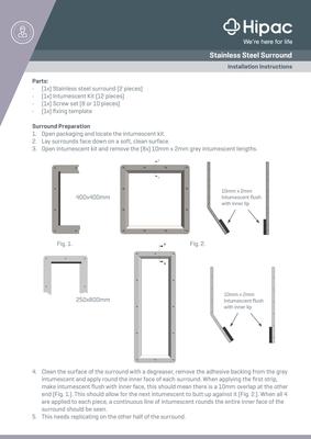 Stainless Steel Surround Installation Guide