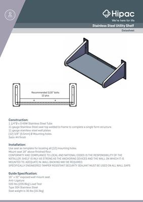 Stainless Steel Shelf Datasheet