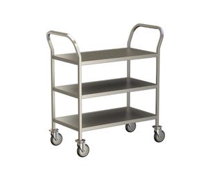 3 Shelf Clearing Trolley