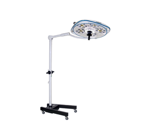 Single, Variable-Focus 24 Inch LED Surgical Lighting Fixture with Mobile Stand