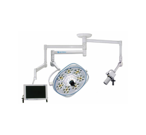 Single, Variable-Focus 30 Inch LED Surgical Lighting Fixture with Camera Arm & Monitor Arm