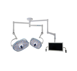 Dual, Variable-Focus 30/24 Inch LED Surgical Lighting Fixture with Monitor Arm