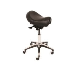 Comfort Series Medical Stool Saddle Seat Hand Activated