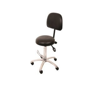 Comfort Series Medical Stool Hydraulic Lift with Backrest