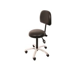 Comfort Series Medical Stool Hand Activated with Backrest