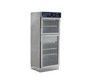 Warming Cabinet, 2 compartment, 3 adjustable shelves, glass doors and audible alarm, overall size 762mm (W) x 1892mm (H) x 673mm (D)