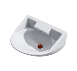 Wallgate Anti-Ligature, Anti-Vandal Solid Surface Basin
