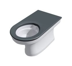 Anti-Ligature, Anti-Vandal Solid Surface Back to Wall Toilet Pad - Integrated Seat