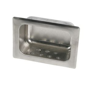 Recessed Soap Dish, Concealed Rear mount without Lip