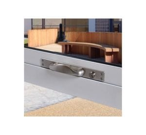 Anti-Ligature Window Push/Pull Handle with Camlock