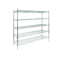 Chrome Wire Static Shelving Kits