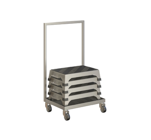Stacking Interlocking Step Stool Trolley