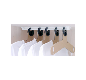 J-Trac Anti-Ligature Wardrobe Rail and Clothes Hanger System