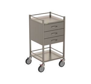 Three Drawer Instrument Trolley
