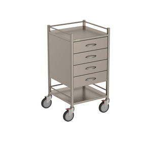 Four Drawer Instrument Trolley