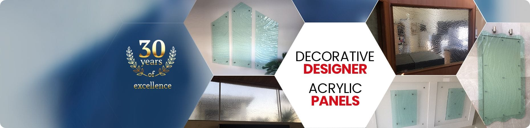Decorative designer acrylic panels | Slumped acrylic | P & M Plastics