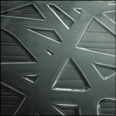 Slumped acrylic fracture pattern