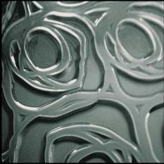 Slumped acrylic roses pattern