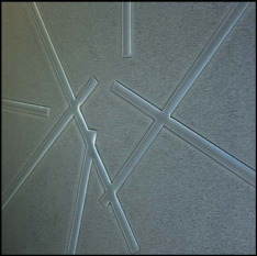 Slumped acrylic stix pattern