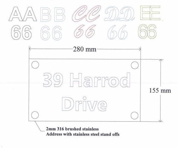 Plastic house numbers