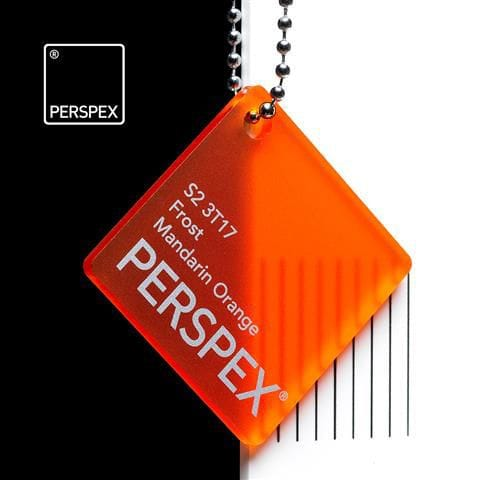 Holland Plastics Mandarin Orange Perspex Frost