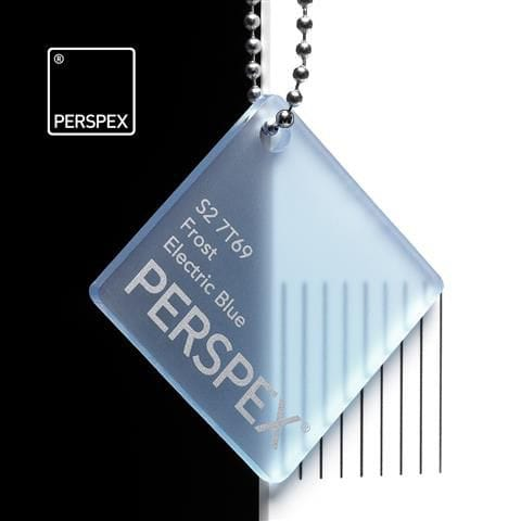 Holland Plastics Electric Blue Perspex Frost