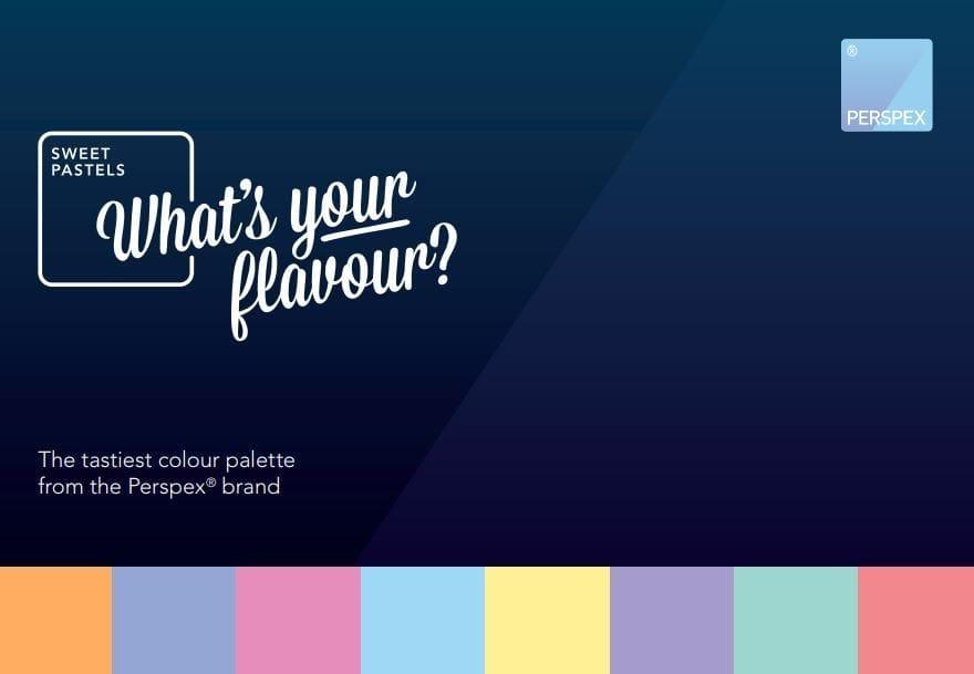 Holland Plastics Perspex® Sweet Pastels Product Brochure